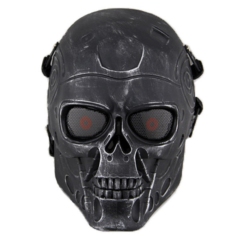 Terminator T800 Skull Tactical Mask Airsoft Mesh CS Wargame Accessories Cosplay Military Army Full Face Paintball Masks
