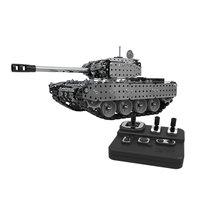 952 шт 2,4G RC Военный танк DIY сборный набор из нержавеющей стали пульт дистанционного управления модель игрушки встроенный 3,7 V 300MAh литиевая бат...