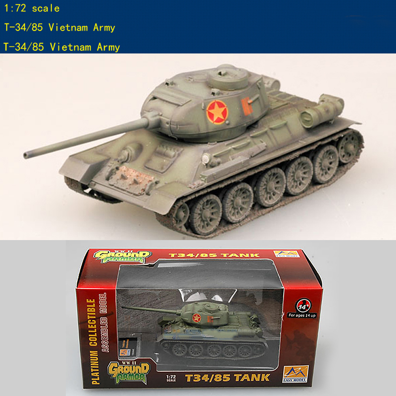 Trumpeter  1/72  Vietnam Army T-34 / 85 Medium Tank  36274 Finished Product Model