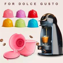 New Plastic Reusable Refillable Coffee Filter Capsule Cup for Dolce Gusto Machines Cafe Kitchen Gadgets Coffee Machine Filter soft water filter delongi coffee machine spares spare parts for delft coffee machines