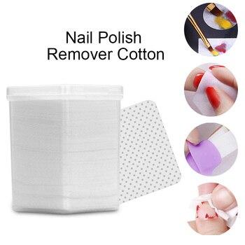 180 unids/caja removedor de esmalte de uñas sin pelusa limpiador de algodón blanco toallitas suaves limpiador UV Gel empujador uñas arte herramientas DIY