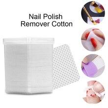 180 unids/caja, removedor de esmalte de uñas blanco sin pelusa, limpiador de toallitas suaves de algodón para Gel UV, herramientas de Arte de esmalte de uñas, diseño DIY
