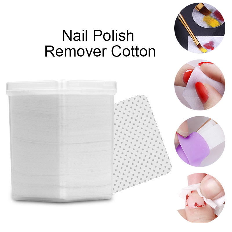 180Pcs/Box Lint-Free White Nail Polish Remover Cottons Soft Wipes Cleaner for UV Gel Nail Manicure Nail DIY Design Tools