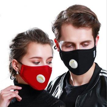 Korean Fabric mouth face mask PM2.5 Anti Haze/Anti dust mouth mask Respirator mascaras With Carbon Filter Respirator Black Mask 1
