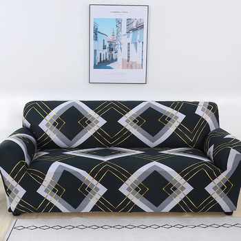 Sofa Covers for Living Room Modern Floral Printed Stretch Sectional Slipcover Polyester L Shape Armchair Couch Case 1/2/3/4 Seat 29