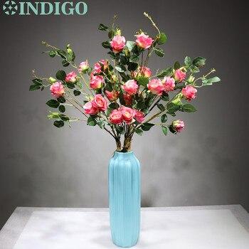 15 Stems Pink Rose Wedding Centerpiece Flower 90cm Silk Rose Spray Bundle Pink Rose Floral Event Party Decoration Free Shipping