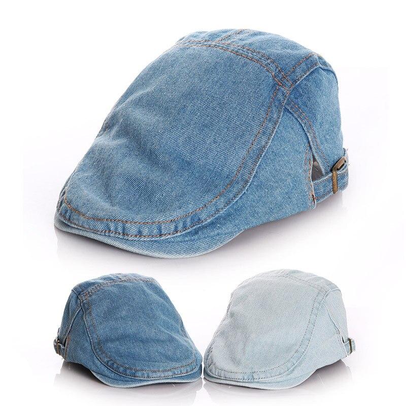 Детская зимняя шляпа берета классический в винтажном стиле для маленьких девочек шляпа джинсовая детская шапка для мальчиков и девочек, де...