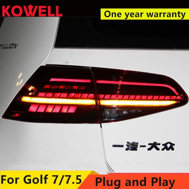 Auto Styling Voor Vw Golf 7 Golf 7.5 Achterlicht 2013 2018 MK7 MK7.5 Led Achter Lamp Drl + Rem + Park + Dynamische Signaal + Achteruitrijlicht