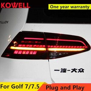 Image 1 - Car Styling dla VW Golf 7 Golf 7.5 Taillight 2013 2018 MK7 MK7.5 LED tylna lampa DRL + hamulec + Park + dynamiczny sygnał + światło cofania