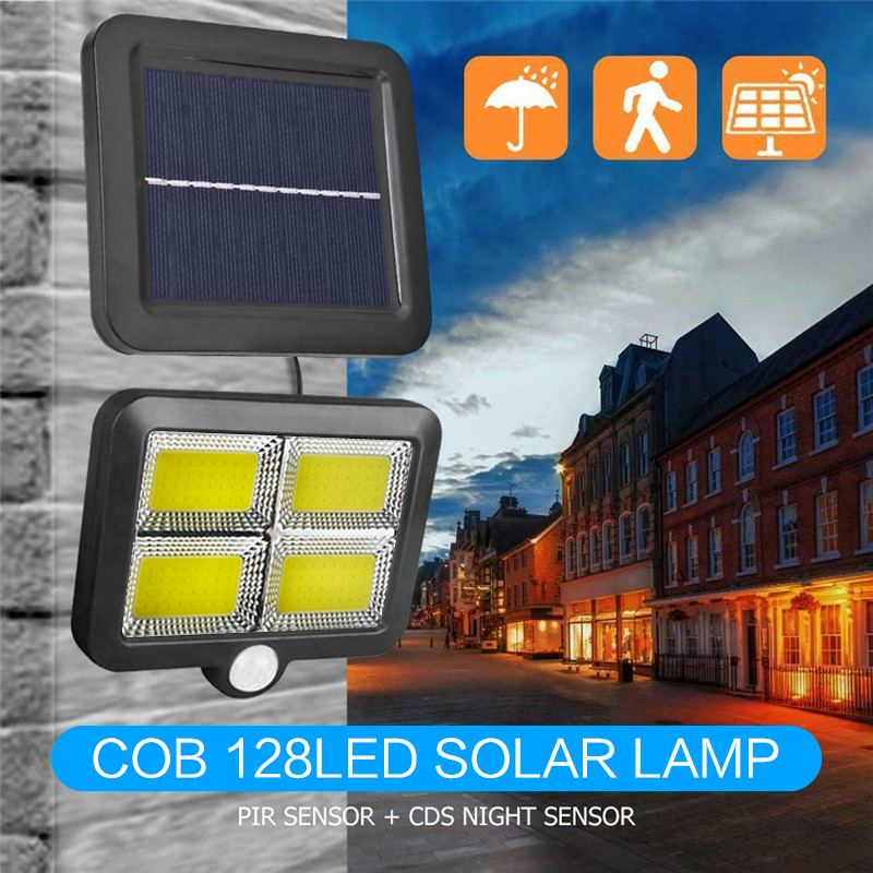 LED Solar Light Outdoor Separable Wall Lamp PIR Motion Sensor Solar Powered Sunlight Wall Street Lights For Garden Decor PTCS
