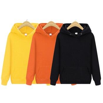 Мужская толстовка с капюшоном, однотонная толстовка, Мужская толстовка в стиле хип хоп, пуловер, модная мужская брендовая хлопковая зимняя