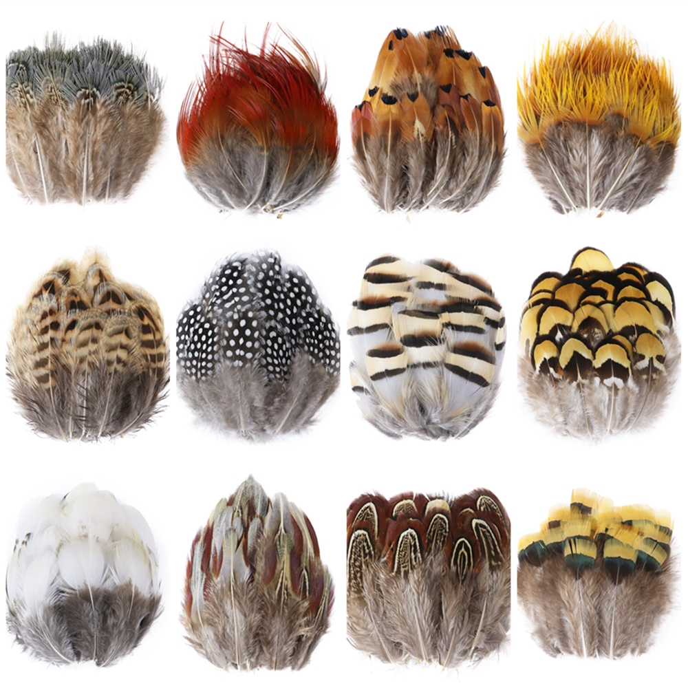 Natural Pheasant Rooster Feathers For Crafts Jewelry Making Clothing Sewing Accessories Decoration 5-8Cm Plumes Wholesale 50 PCS