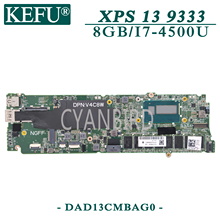 KEFU DAD13CMBAG0 original mainboard for Dell XPS-13 9333 with 8GB-RAM I7-4500U