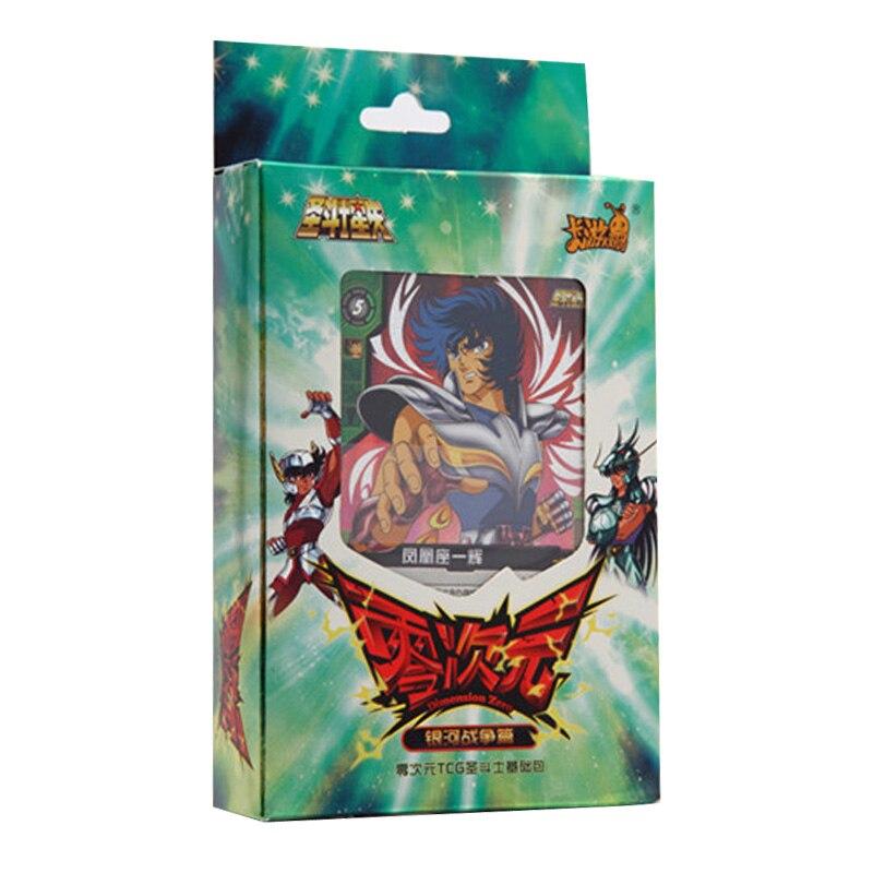 50PCS/Pack Original Box Dimension Zero Saint Seiya Galaxy War TCG Trading Card Game For Children Birthday Gift