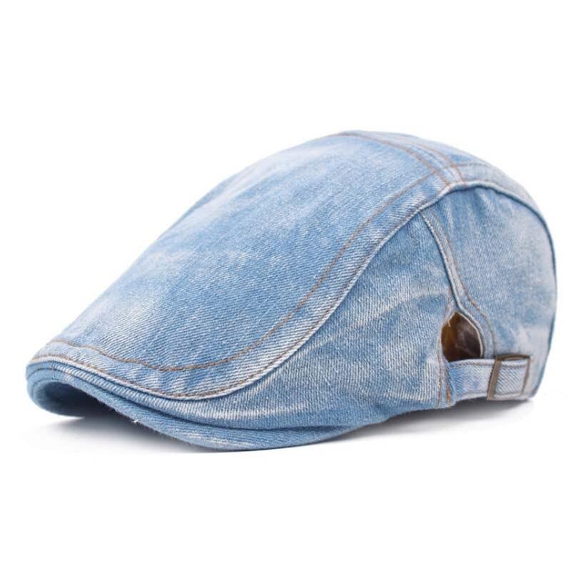 Denim Stitching Berets Mens Beret Caps Retro Casual Berets Flat Cap Outdoor Travel Leisure Headwear Summer Sun Hats
