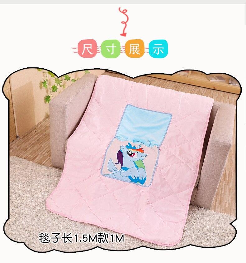 Licorne Airable couverture oreiller double usage créatif coussin dos coussin multi-fonctionnel Cool mignon bureau sieste couverture