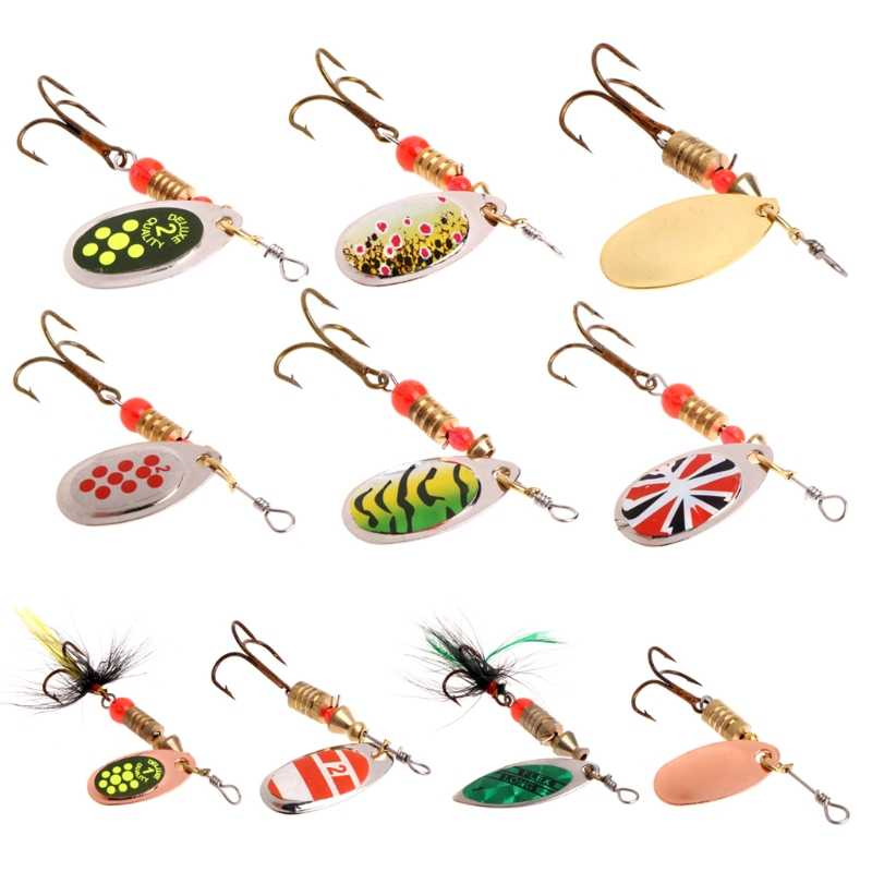 Richiamo di pesca facile shiner Pesca Cucchiaio Lure Paillettes Paillette di Metallo Esca Dura Doppio Treble Hook Tackle dropshipping