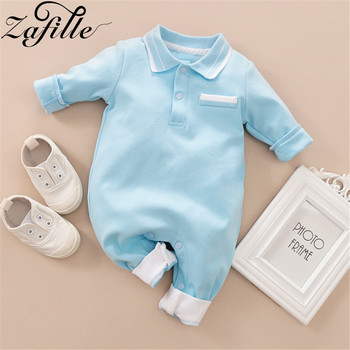 ZAFILLE Solid Baby Girl Clothes Long Sleeve Newborn Kids Clothes Cotton Baby Romper Turn-down Collar Boys Jumpsuit Girls Clothes newborn boys girls rompers toddler turn down collar long sleeve casual romper baby cotton white pink clothes baby onesie 6 24m
