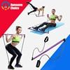 Yoga Resistance Bands Pilates Stick Bodybuilding Crossfit Gym Rubber Tube Elastic Bands Fitness Equipment Training Exercise