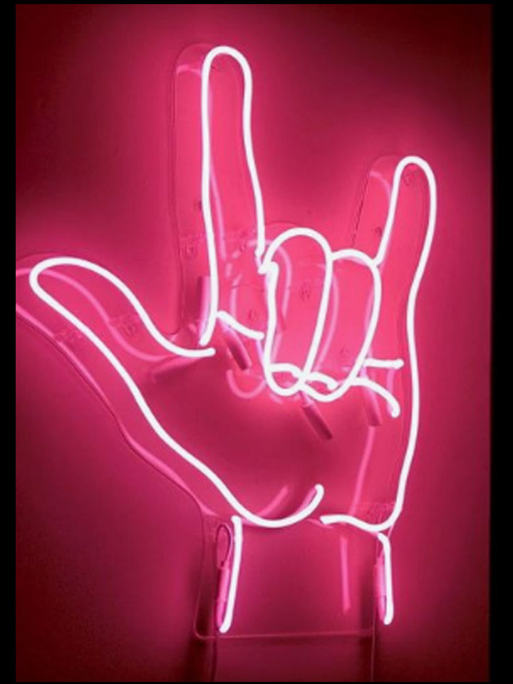 Hand Gesture roll Neon Signs neon light pink neon lights for rooms glass  light up sign Iconic Sign Neon lights neon wall signs|Neon Bulbs & Tubes| -  AliExpress