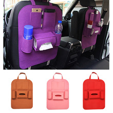 dropshipping Car Storage Bag Universal Seat Back Organizer Felt Backseat Storage Bag Multi-pockets Tidying OE88