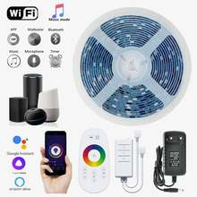 LED Strip Light RGB DC12V 5050 2835 Flexible Waterproof Tape WiFi Bluetooth Touch Remote Controller Room Festiva Decoration Lamp
