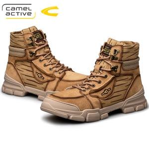 Image 5 - Camel Active Nieuwe Mannen Schoenen Hoge Kwaliteit Echt Leder Mannen Enkellaars Mode Winter Mannen Laarzen Warme casual Schoenen