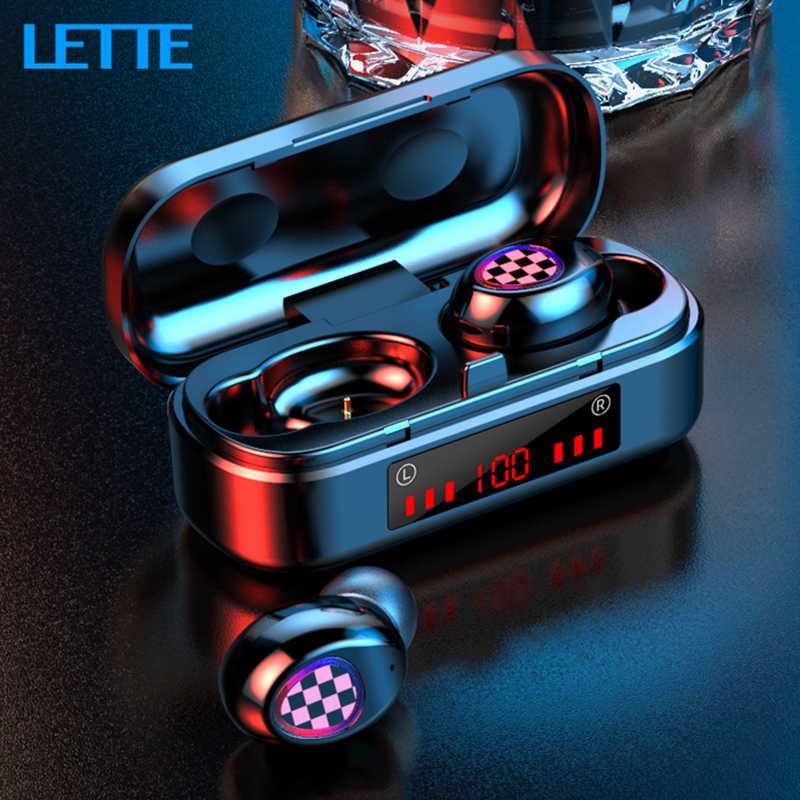V7 <font><b>TWS</b></font> Bluetooth V5.0 Earbuds Wireless Earphones Touch Control Waterproof <font><b>6D</b></font> Stereo Sport Music Headset Portable Charging Box image