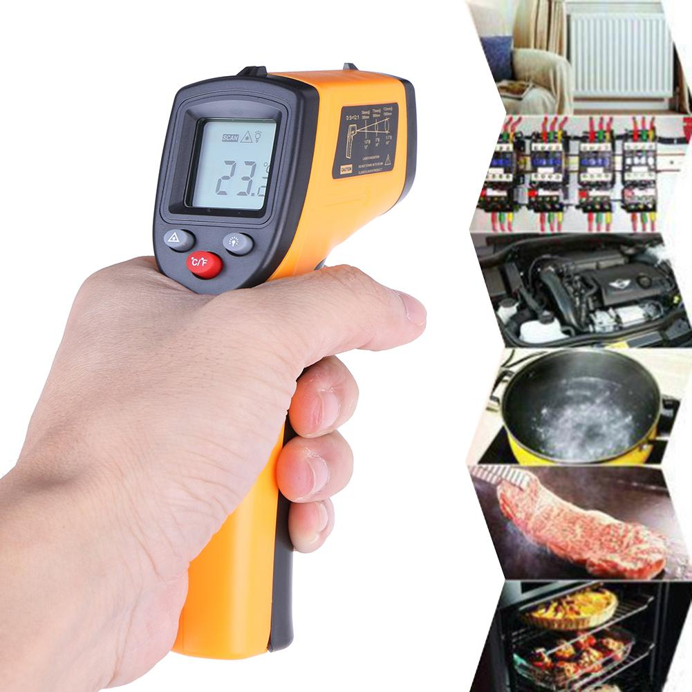GM320 Industrial Laser LCD Digital IR Infrared Thermometer Temperature Meter Gun Point -50~380 Degree Non-Contact Thermometer