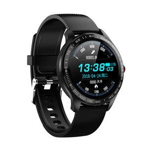 Новинка 2020, умные часы для мужчин, спортивный шагомер, браслет с пульсометром, монитор артериального давления, фитнес, женские модные круглы...