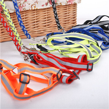 Pet Travel Reflective Traction Belt Reflective Pet Traction Rope + Chest And Back With Small And Medium-sized Dogs Rope Dog Ches