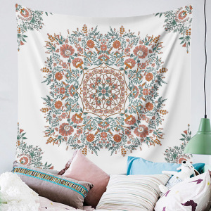Indian Tapestry Mandala Hippie Bohemian Wall Hanging Floral Mandala Psychedelic Tapestry Wall Hanging Decor Living Room Bedroom