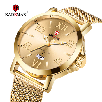 Minimalism Mens Watches Luxury Classic Quartz Watch TOP Brand KADEMAN Lovers Business All Steel 3 ATM Wristwatch Relogio