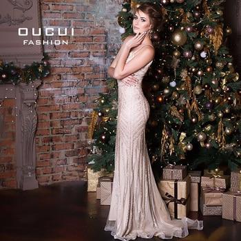 Luxury Tulle Crystal Mermaid Plus Size Evening Dress Long 2019 Vestidos De Fiesta De Noche Prom Dresses Robe De Soiree OL102829 6