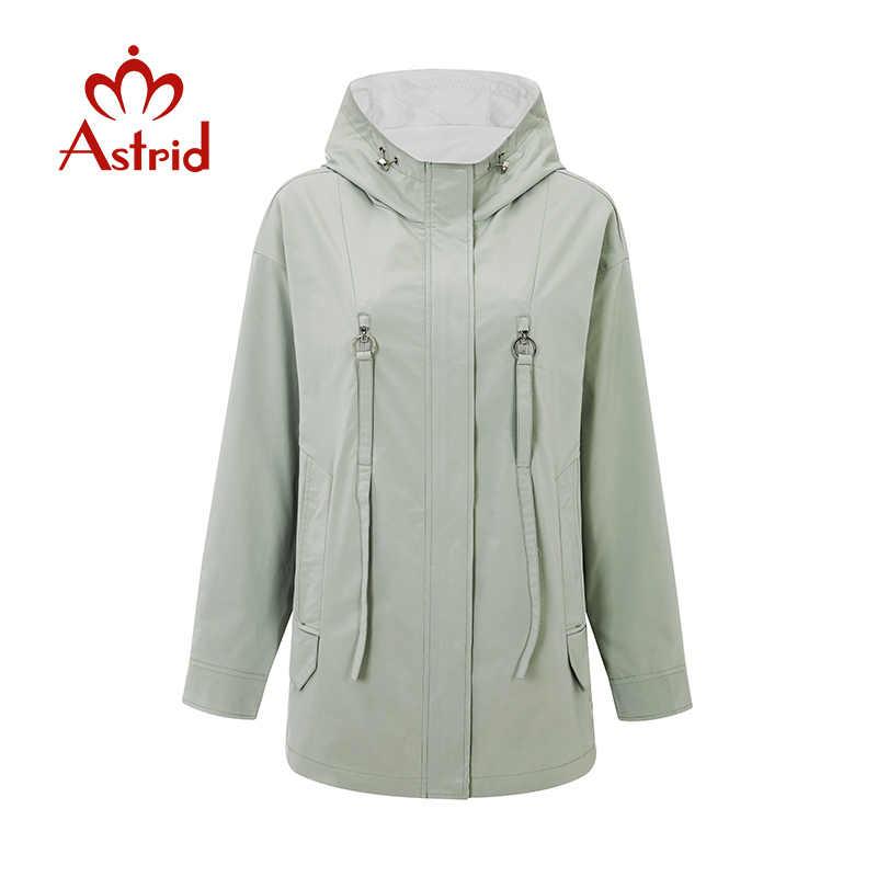 Astrid 2020 Nieuwe Lente Mode Korte Trenchcoat Hooded Hoge Kwaliteit Stedelijke Vrouwelijke Uitloper Trend Losse Dunne Jas ZS-3088