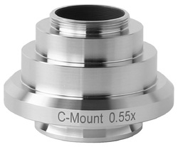 FYSCOPE gorąca wyprzedaż! CE  ISO  profesjonalnego 0.55X mikroskop standardowy adapter kamery C-adapter do montażu dla trinocular Leica mikroskop