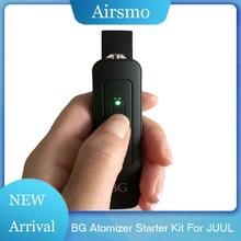 Portable BG Electronic Cigarette Starter Kits For JUUL Vaporizer Atomizer 4-speed Adjustment Voltage 650mah Battery New Vape Pen starter for mercury outboard 50 859170t1 50 859377t 50 884044t 50 884045t 50 888160t