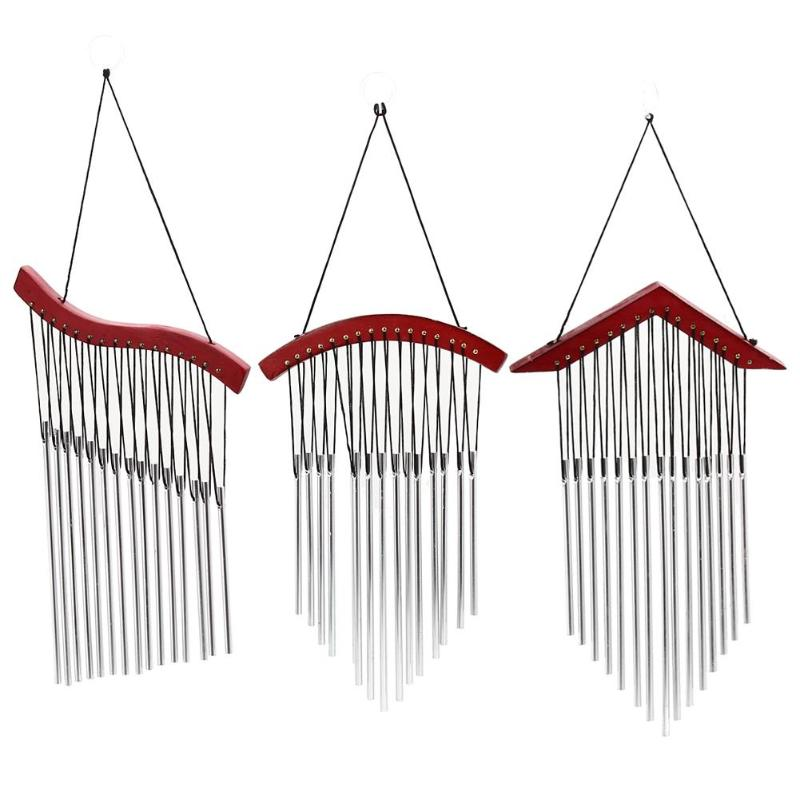 15 Tubes Windchime Yard Garden Outdoor Home Hanging Decoration Ornament Living Wind Chimes Decor Gift