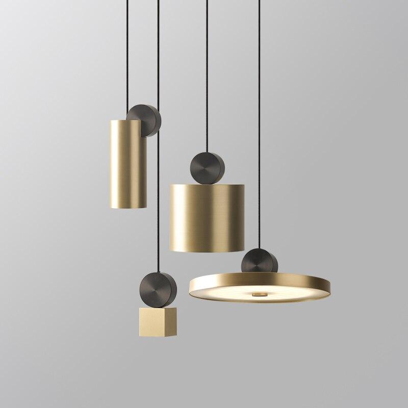 Işıklar ve Aydınlatma'ten Kolye ışıkları'de Post modern sanat askılı restoran lambası İskandinav basit yemek masası başucu yatak çubuğu Cosmos kolye ışıkları title=