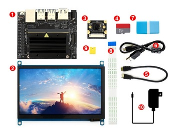 Jetson Nano Developer Kit Package C , powerful computer for AI development with Display, Camera TF Card