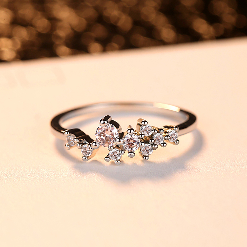 Rose Gold Zircon Ring Woman Magical Beautiful Accessories Engagement Ball Accessories Cubic Zirconia Jewelry Classic Fashion