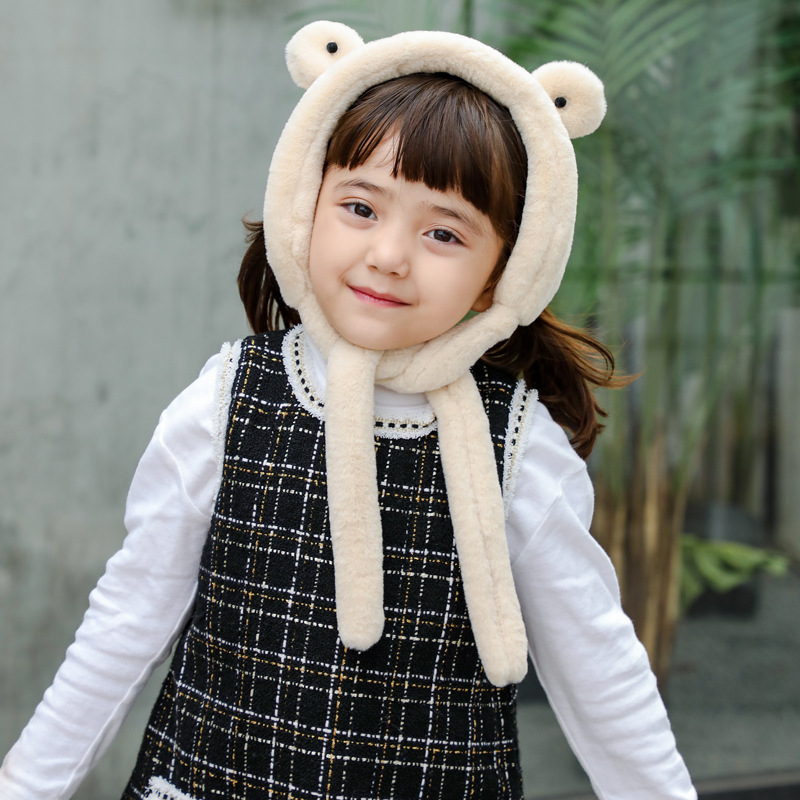 19 Years Autumn And Winter New Style Plush CHILDREN'S Scarf Korean-style Imitation Rabbit Fur Men And Treasure Baby GIRL'S Versa