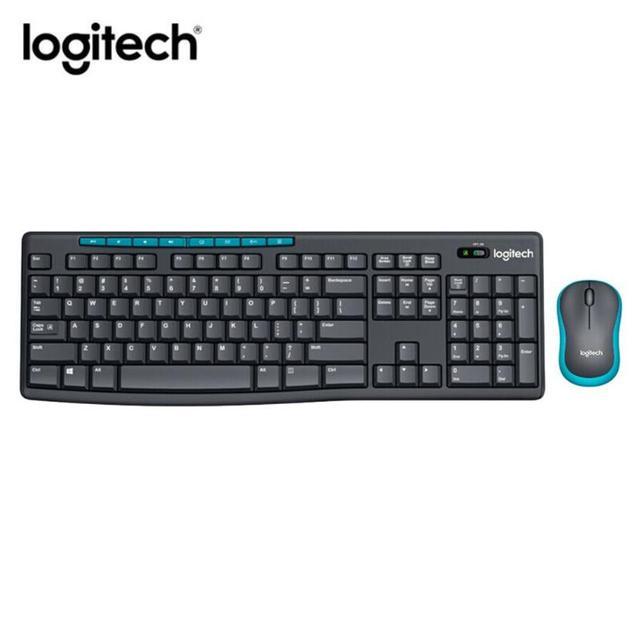 Ogitech MK275 USB clavier sans fil 1000DPI clavier étanche avec fonction multimédia clé optique ergonomique PC souris Combos