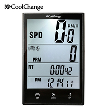 CoolChange Bike Computer Wired Wireless Waterproof Cycling Speedometer Odometer Bicycle 2.7 Screen Measurable Stopwatch