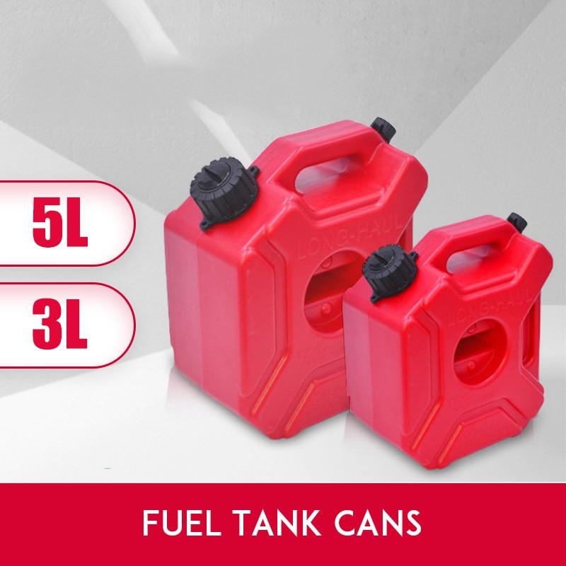 새로운 휴대용 3l 5l 빨간 캔 가스 연료 탱크 예비 플라스틱 가솔린 탱크 마운트 오토바이 제리 수 가솔린 오일 컨테이너 연료 주전자