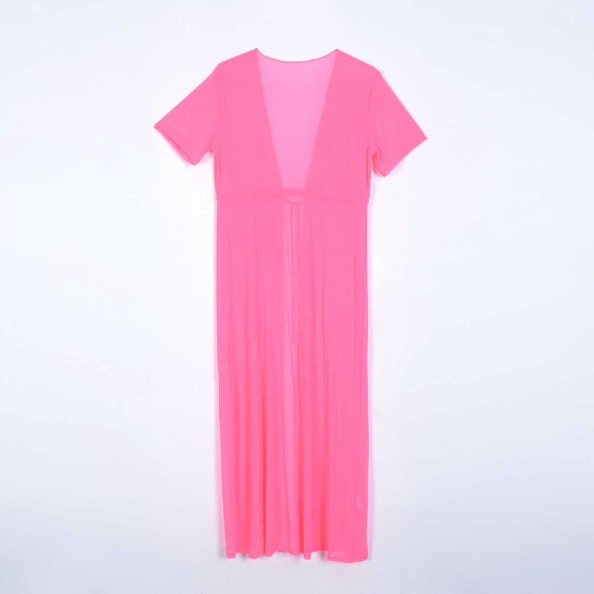 Женские прозрачные кружевные бикини, летний кардиган купальник, Пляжное длинное платье, женский сарафан, женские свободные тонкие платья