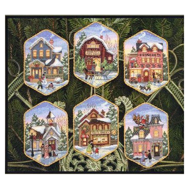 Di alta Qualità Bello di Vendita Calda Contati Punto Croce Kit Villaggio Di Natale Ornamento dim 08785
