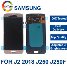 Super Amoled LCD For SAMSUNG Galaxy J2 Pro LCD 2018 J250 J250F J250DS Display Touch Screen Digitizer Assembly Brightness Control lcd for samsung galaxy j2 pro 2018 j250 j250f sm j250f ds lcd display touch screen digitizer assembly replacement