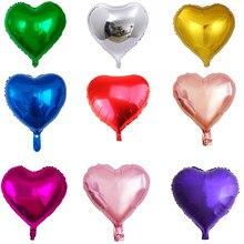 Balões de coração, balões de coração azul/roxo/ouro rosado/vermelho/verde/rosa com 10 peças balão de decoração de festa de aniversário, suprimentos para decoração de casamento
