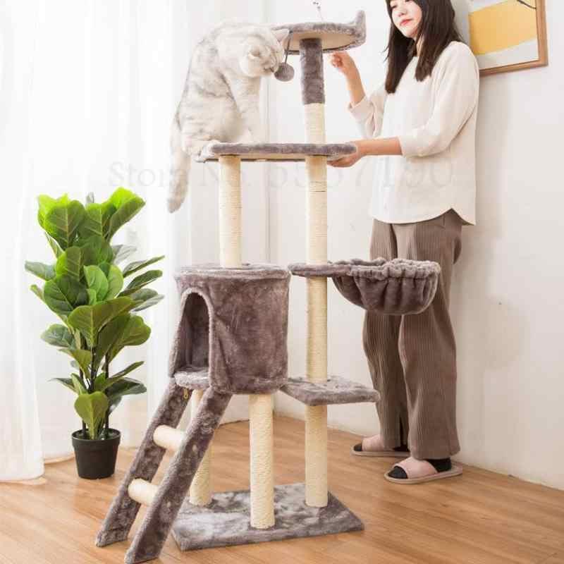 고양이 등반 프레임, 고양이 둥지, 고양이 나무 통합 빌라, 잡아 열, 하늘 열, 다층 플랫폼, 고양이 장난감, sisal 잡아 보아